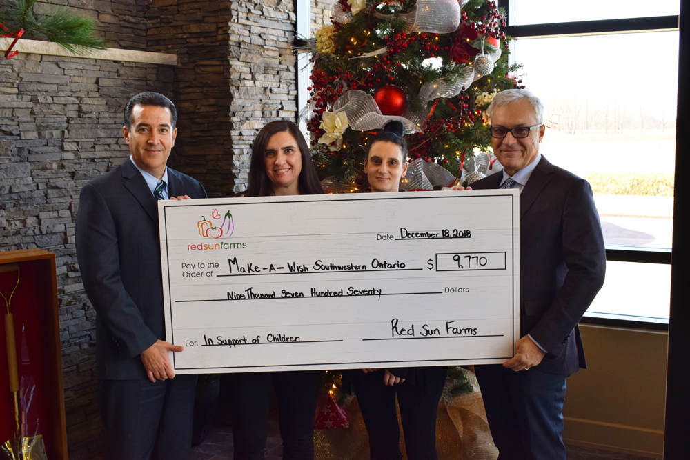 RED SUN FARMS EMPLOYEES EXCEED 2017 DONATION TOTAL...