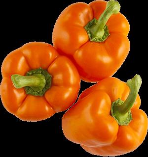 Orange Sweet Bell Peppers