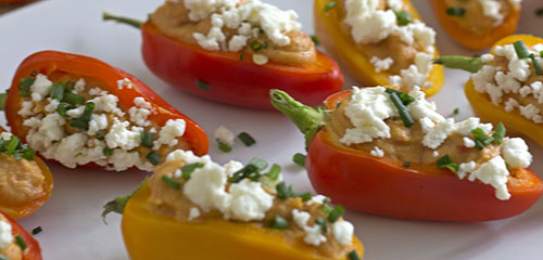Hummus & Feta Sweet Peppers